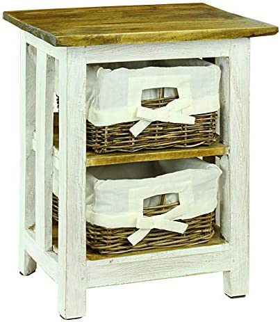 Antique Revival Tonale Styles Nina Night Stand, White