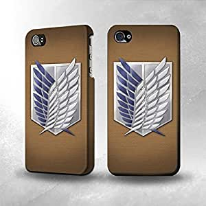 Unique and Lovely For Ipod Touch 4 Cover Case Design with Attack on Titan 1 White Cover