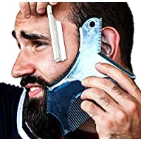 New Innovative Design Beard Shaping Tool, PCEPEIVK Beard Trimming Shaper Template Guide for Shaving or Stencil With Full-Size Comb