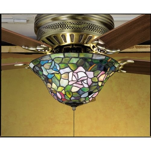 Tiffany Rosebush Fan Light Fixture - Meyda Tiffany Garden