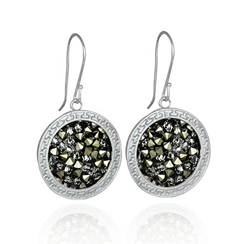 - Dazzling Pavé Crystal Rock Earrings in Decorative 925 Sterling Silver Setting Made with Swarovski Crystal