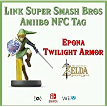 The Legend of Zelda Breath of the Wild - Link Super Smash Bros Amiibo NFC Tag Card