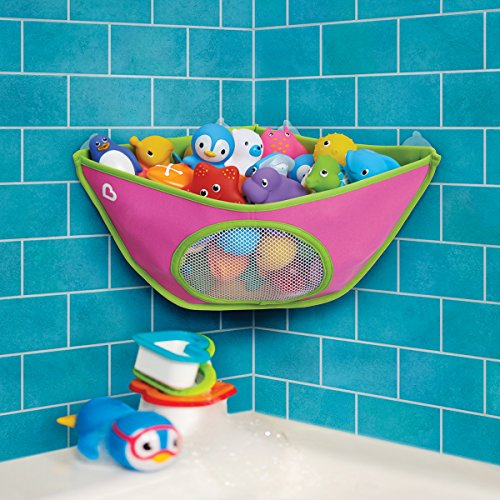 Munchkin Corner Bath Organizer - Blue by Munchkin Multicolor