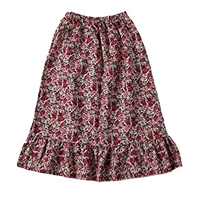 Girls Calico Pioneer Peasant Costume Skirt (Choose Color and Size): Clothing