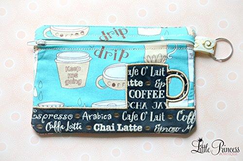 Coffee Bag, Cosmetic Bag, Toiletry Bag, Makeup Bag by Little Princess Bowtique