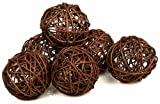 2 Packages of 6-Brown Twig Grapevine Balls-12 Total Balls