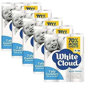 Amazon Com White Cloud 2 Ply Comfort Toilet Paper 60