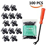 EZYKOO 100pcs LEXUS TOYOTA Clips, 90467-07201 Replacement Fasteners, Quality Nylon Push Rivets with Bonus Fastener Remover