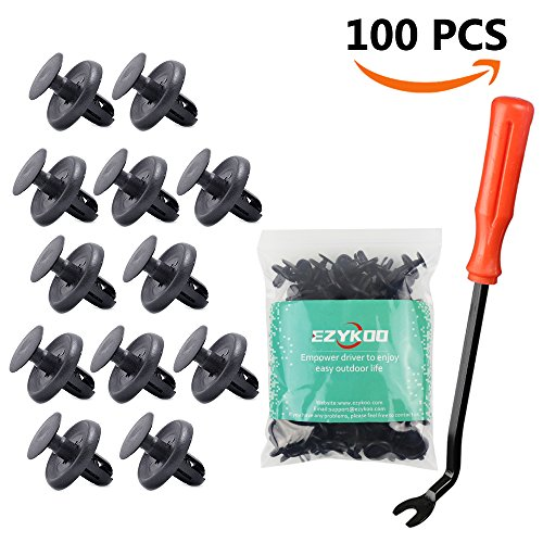 100Pcs Lexus Toyota Clips  90467 07201 Oem Replacement Fasteners  Quality Nylon Push Rivets  Better Than Oem With Bonus Fastener Remover