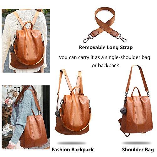 theft Anti Rucksack Shoulder School Waterproof Bag Herald Fashion Women Black Backpack PqttRw