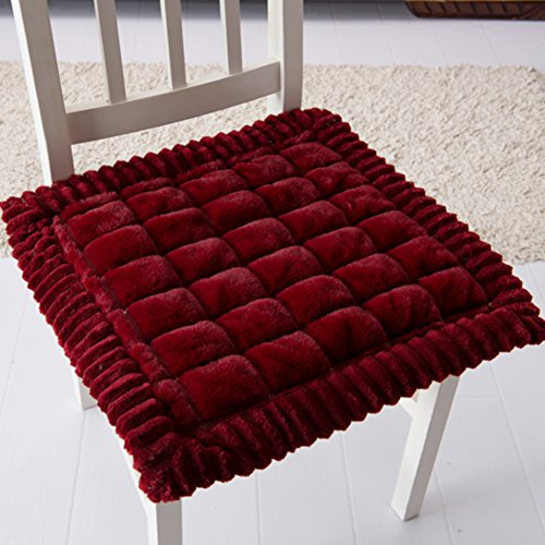 Cheap  YU&AN Plush Cushioning Square Chair seat pad Solid Color Chair pad Non-Slip..