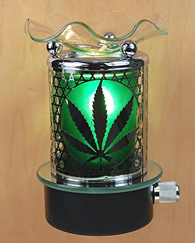 Marijuana Pot Leaf Plug In Oil Warmer Burner Night Light