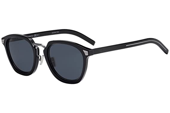 7ed5407c77 Image Unavailable. Image not available for. Color  Christian Dior Homme  DiorTailoring1 Sunglasses Black w Grey Blue Lens ...
