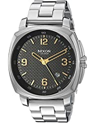 Nixon Mens Charger Quartz Stainless Steel Casual Watch, Color:Silver-Toned (Model: A10722730)