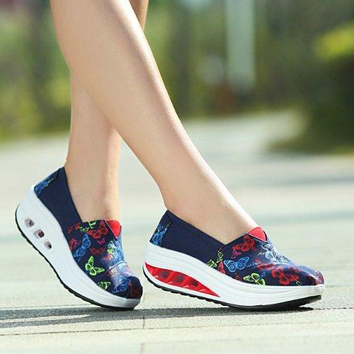 NGRDX&G Mujer Zapatos De Lona Zapatos De Mujer Mujer Mujer Transpirable Calzado Casual Calzado Casual Calzado Deportivo dark blue butterfly