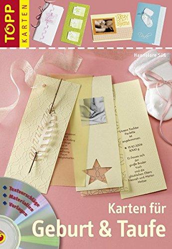 Karten für Geburt und Taufe: Einladungs-, Menu- & Tischkarten