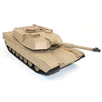 Dilwe RC Tanque, 1:16 2.4G US M1A2 Abrams RC Tanque: Amazon ...