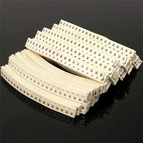 1//8W 5/% 3400pcs RoHS Free Shipping 0R~10MR 170 Value 0805 SMD Resistor Kit