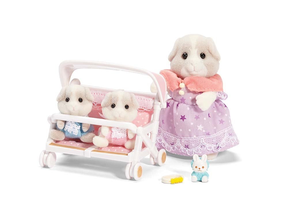 Calico Critters Patty and Paden/'s Double Stroller Set and Sophie/'s Love /'n Care Set Maven Gifts