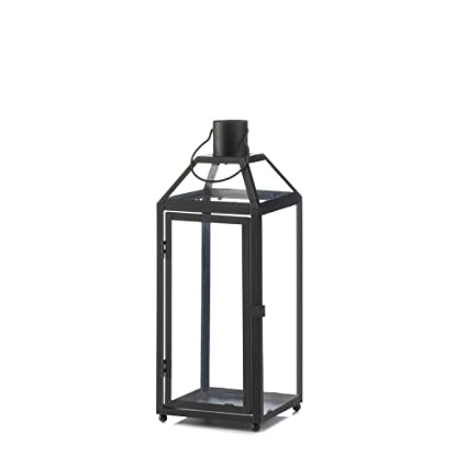 Outdoor Patio Lanterns, Midtown Medium Black Metal Decorative Lantern  Outdoor - Amazon.com: Outdoor Patio Lanterns, Midtown Medium Black Metal