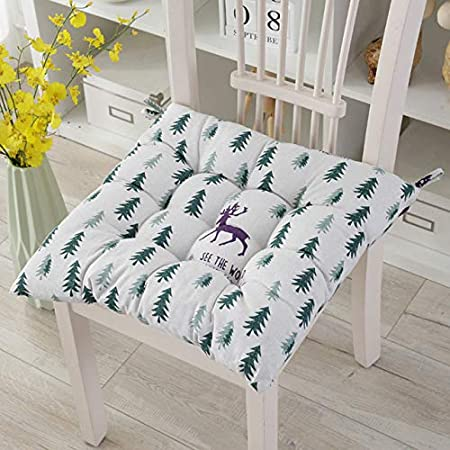 leaf,30 * 30 Nicole Knupfer 2er Pack Garden Chair Cushion Seat Cushion Recliner Cushion Back Cushion Low-Back Cushion with Ties Chair Pads for Office Chair and at Home Soft Foam