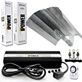 600w hps air cooled - iPower 600 Watt HPS MH Digital Dimmable Grow Light System Kits Wing Reflector Set with Timer
