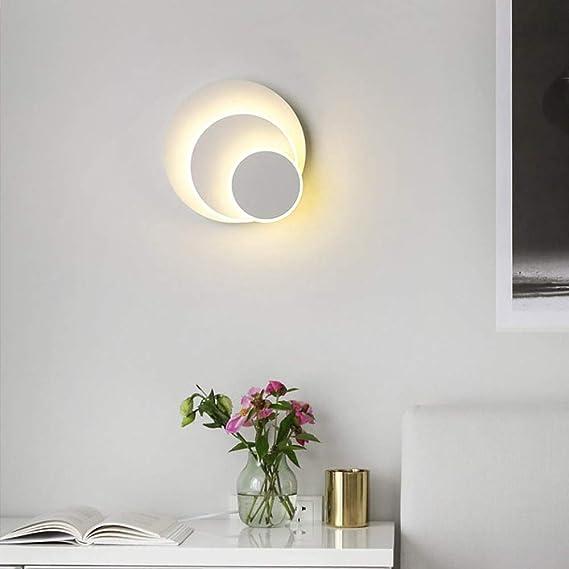 Lightess 2 Pezzi Adesivi Faretti a LED Luci Batteria Luci del Telecomando Applique 350/° Rotante per Corridoio Camera da letto Cucina ecc. Bianco Caldo
