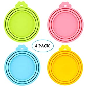 IVIA PET Food Can Lids, Universal BPA Free Silicone Can Lids Covers for Dog and Cat Food, One Can Cap Fit Most Standard Size Canned Dog Cat Food