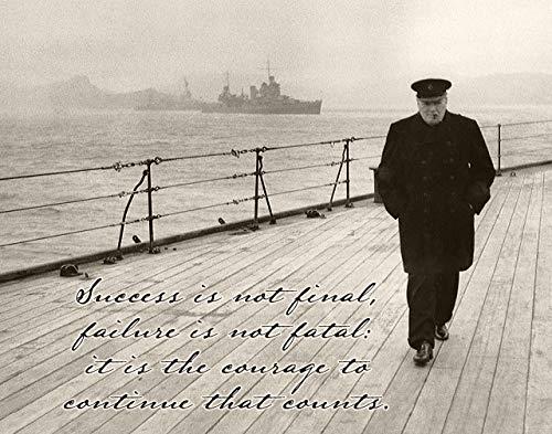 Success is Not Final - Winston Churchill - 11x14 Unframed Art Print - Great Gift for World War II History - Picture Winston Churchill