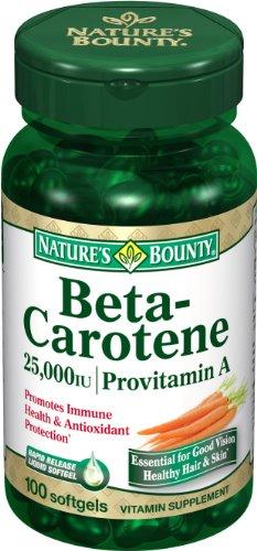 Nature's Bounty, A 25,000 Iu Beta Carotene Softgels, 100 ct