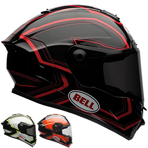 Bell Street Star Full Face Motorcycle Helmet (Pace Black/White, X-Small) (Non-Current Graphic)