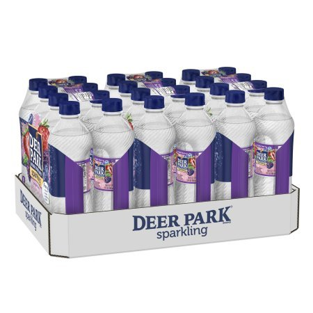 Deer Park Sparkling Natural Spring Water, Triple Berry, 16.9 Fl Oz, 24 Count -