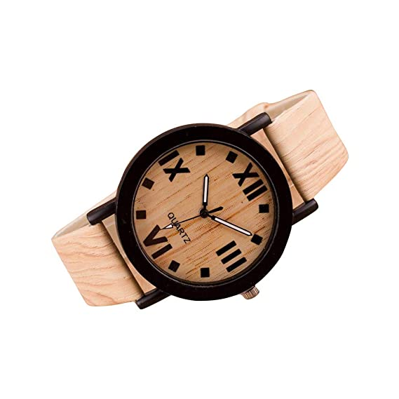 Bestow Roman Numerals Leather Leather Band Analog Quartz Vogue Relojes de Pulsera: Amazon.es: Ropa y accesorios