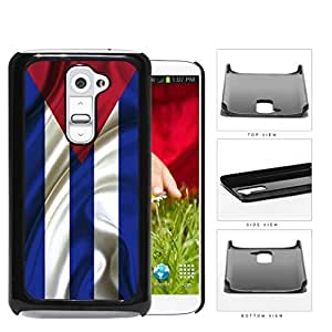 Cuban Flag With Wavy Creases Hard Plastic Snap On Cell Phone Case LG G2