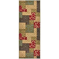 Custom Size Patchwork Multi Color Roll Runner 26 in Wide x Your Length Choice Slip Resistant Rubber Back Area Rugs and Runners (Multi Color, 8 ft x 26 in)