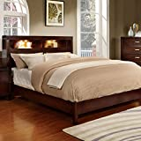 Best 247SHOPATHOME Kings Furniture King Size Beds - Estelle Contemporary Style Brown Cherry Finish Eastern King Review