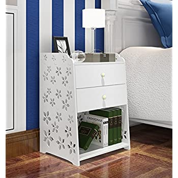 mybestfurn large size 2 drawer nightstand modern jane white bed end cabinet storage cabinet bed