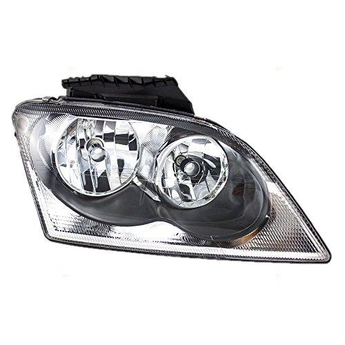 Passengers Halogen Combination Headlight Headlamp Replacement fits 04-06 Chrysler Pacifica 4857850AA AutoAndArt