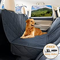 Dog seat covers for cars by YoGi Prime - LUXURY Dog Car Hammock Style Waterproof Car Seat Covers for dogs, Pet Seat protectors for Trucks SUVs - XL pet car seat covers (LuxuryPADDED)