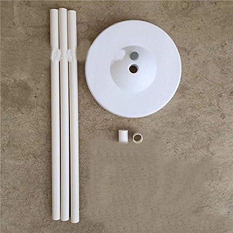 1 Juego Base Posición Vertical Soporte de Globo Plástico Base de Columna para Fuentes de Partido - Blanco: Amazon.es: Juguetes y juegos