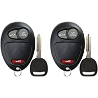 KeylessOption Keyless Entry Remote Car Key Fob and Key Replacement For L2C0007T (Pack of 2)