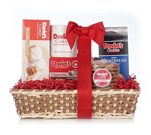 David's Cookies Breakfast Bliss Gift Basket - Handmade Basket With Assortment of Gourmet Cookies & Treats