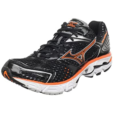 Mizuno Men's Wave Inspire 7 Running Shoe,Anthracite/Vibrant Orange,9 M US