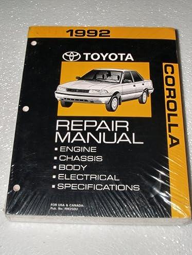 1992 toyota corolla repair manual toyota motor corporation rh amazon com 1992 toyota corolla service manual pdf 1992 toyota corolla service manual pdf
