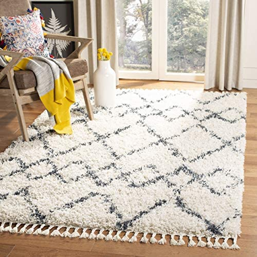 Safavieh Pro Luxe Shag Collection PLX434A Tassel Area Rug