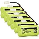 iMah Ryme B1-2 BT166342/BT266342 BT183342/BT283342 Cordless Phone Batteries Compatible Vtech CS6114 CS6429 CS6719-2 at&T EL5210 EL51203 BT166342 BT266342 Handset Telephone (Pack of 6)