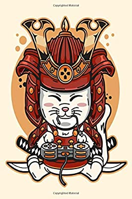 NOTEBOOK: Kawaii Cat Samurai Ninja Japanese Assassin College ...