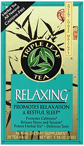 - Triple Leaf Tea, Relaxing, 20 Tea Bags (Pack of 6)