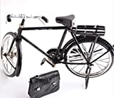 Black Metal Bicycle Model and mini lighter simulation Toy Gift