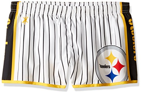 - FOCO Pittsburgh Steelers Womens Pinstripe Polyester Short Small